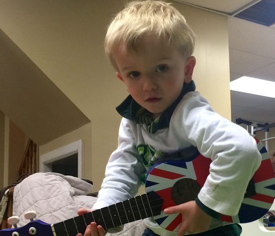 Dorian Playing Ukelele