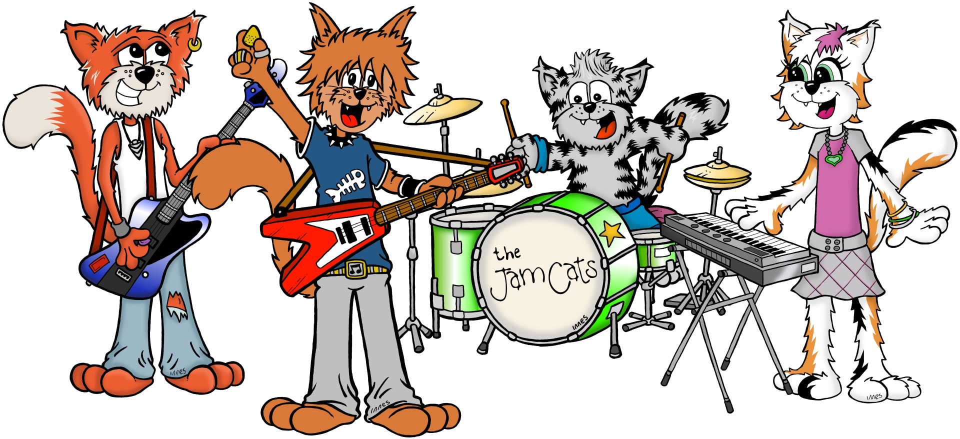 The Jam Cats Characters