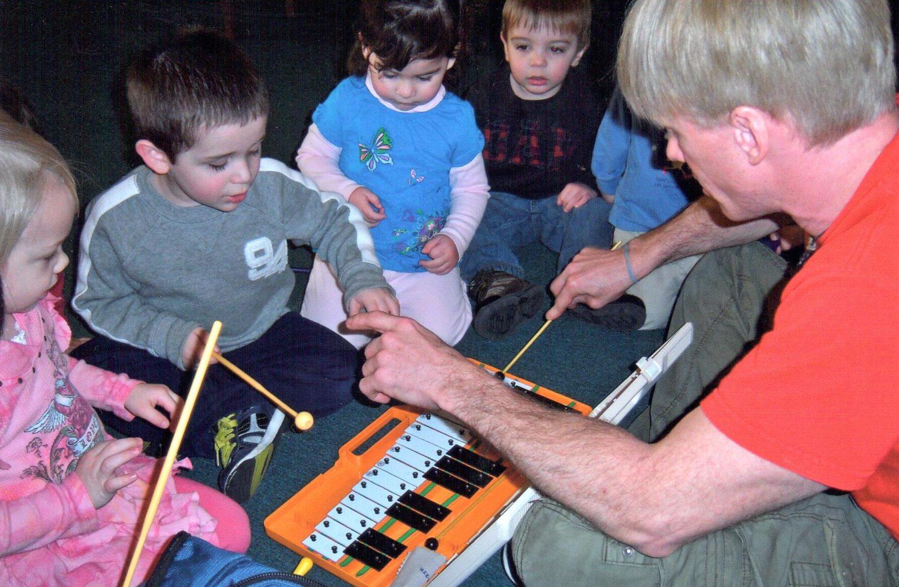 Niko Playing Glockenspiel
